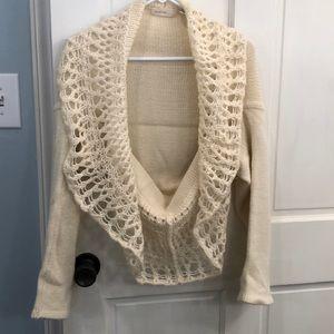 Cream sweater shrug